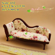 1/12 scale Dollhouse Mini Bedroom Furniture Victorian Chaise Lounge