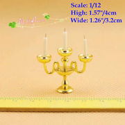 1/12 Scale Dollhouse Miniature Candle Stick Candle Holder /Doll House